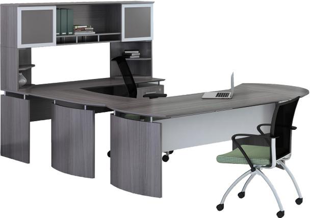 Mayline Medina Office Desk Set Gray Steel [MNT29LGS]-1