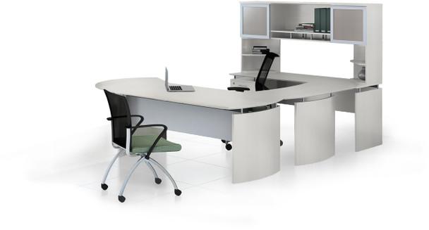 Mayline Medina Office Desk Set Textured Sea Salt [MNT30TSS]-1