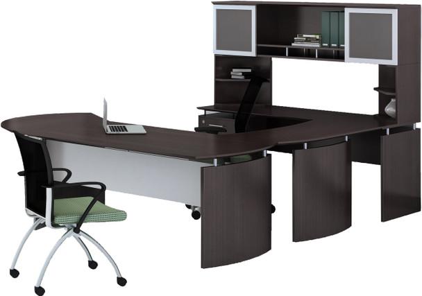 Mayline Medina Office Desk Set Mocha [MNT30LDC]-1