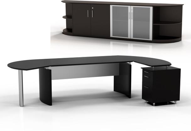 Mayline Medina Office Desk Set Mocha [MNT10LDC]-1