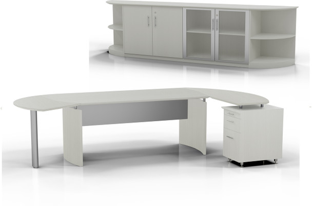 Mayline Medina Office Desk Set Textured Sea Salt [MNT10TSS]-1