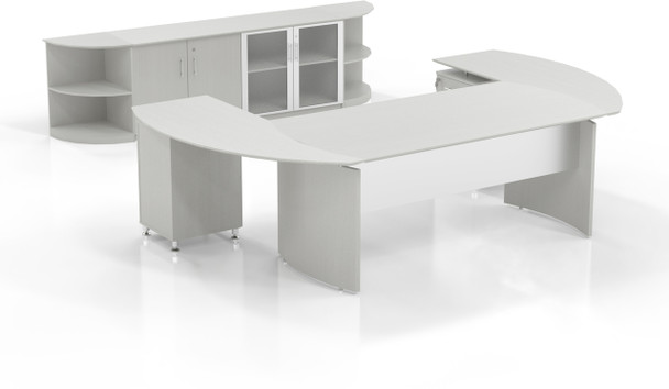 Mayline Medina Office Desk Set Textured Sea Salt [MNT13TSS]-1
