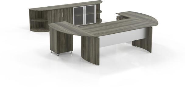 Mayline Medina Office Desk Set Gray Steel [MNT13LGS]-1