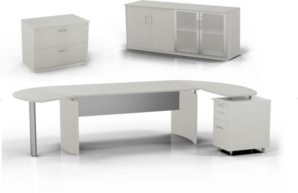 Mayline Medina Office Desk Set Textured Sea Salt [MNT15TSS]-1