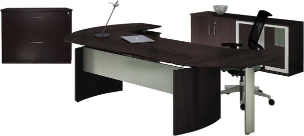 Mayline Medina Office Desk Set Mocha [MNT15LDC]-1