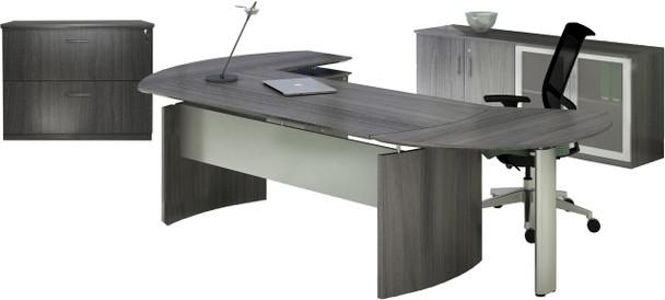 Mayline Medina Office Desk Set Gray Steel [MNT15LGS]-1
