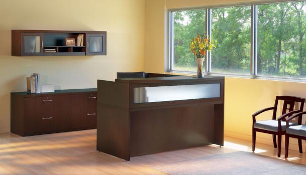 Mayline Aberdeen Office Desk Set Mocha [AT37LDC]-1