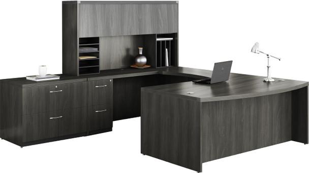 Mayline Aberdeen Office Desk Set Gray Steel [AT10LGS]-1