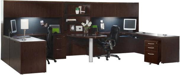 Mayline Aberdeen Office Desk Set Mocha [AT17LDC]-1