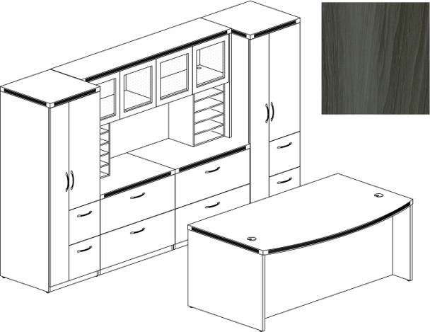 Mayline Aberdeen Office Desk Set Gray Steel [AT9LGS]-1