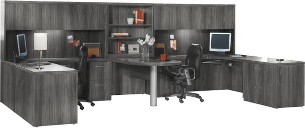 Mayline Aberdeen Office Desk Set Gray Steel [AT18LGS]-1