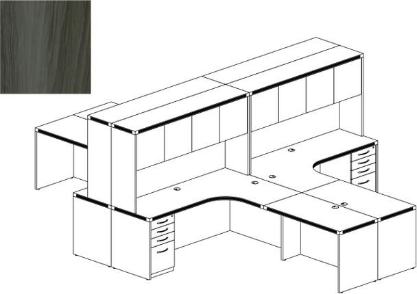 Mayline Aberdeen Office Desk Set Gray Steel [AT27LGS]-1