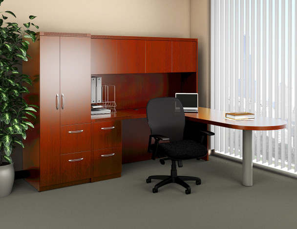 Aberdeen Executive Desk with Storage Tower [AT22]