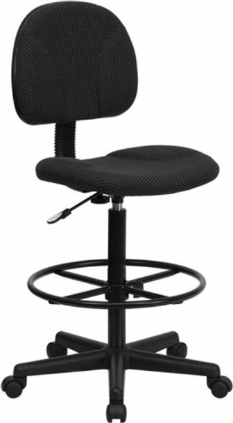 Adjustable Height Office Stool [BT-659-BLK-GG] -1