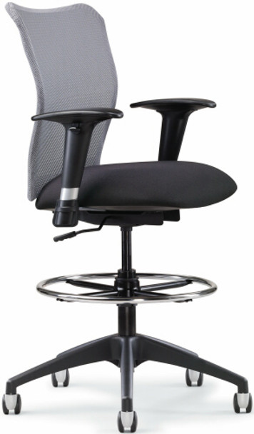 All Seating Inertia Mesh Drafting Stool [78019] -1