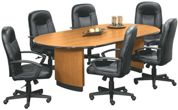 Basyx 8 Foot Racetrack Conference Room Table [OV4896T] -1
