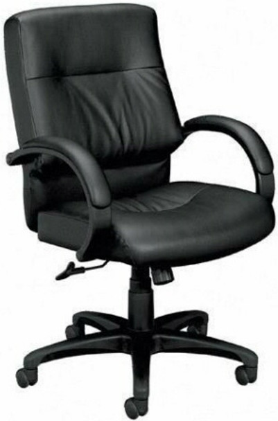 Basyx Mid Back Plush Leather Office Chair [VL692] -1
