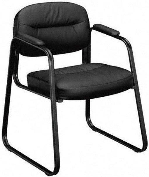 Basyx Sled Base Leather Guest Chair [VL653] -1