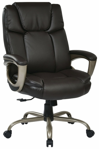 Big Mans Executive Espresso Leather Big and Tall Chair [ECH12801] -1