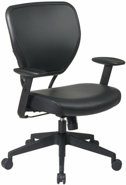 Office Star Black Vinyl Office Chair [5500V] -1