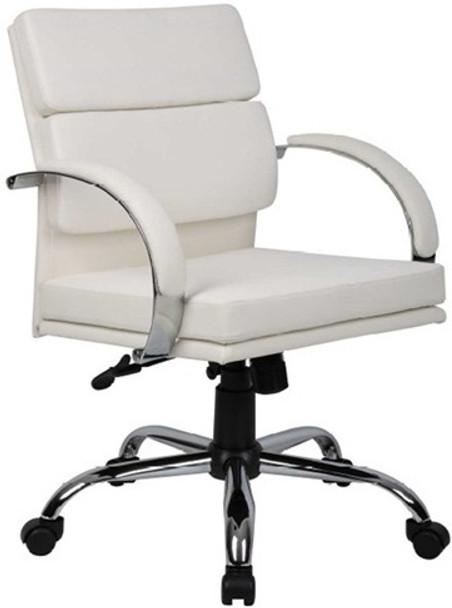 Boss Aaria Modern White Office Chair [B9406] -1
