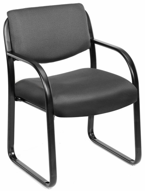Boss Fabric Guest Chair With Sled Base [B9521] -1