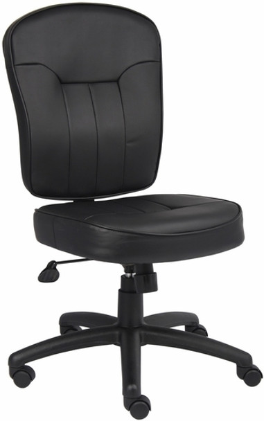 Boss LeatherPlus Armless Office Chair [B1560] -1