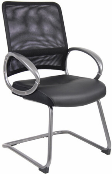 Boss Mesh Back Cantilever Guest Chair [B6409] -1