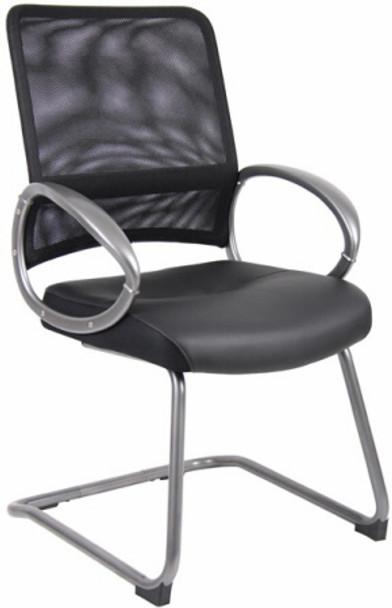 Boss Mesh Back Cantilever Guest Chair [B6409] -1