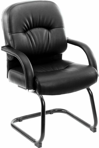 Boss Pillow Back Vinyl Guest Chair [B7409] -1