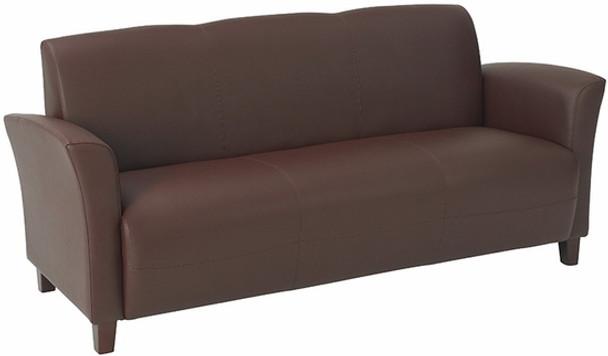 Contemporary Flared Arm Eco Leather Sofa [SL2273] -1