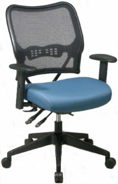 Deluxe Custom Fabric Seat Mesh Chair [13-7N9WA] -1