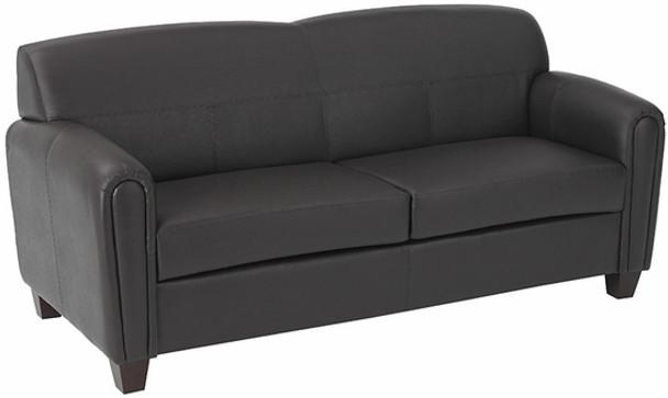 Espresso Faux Leather Office Sofa [SL2573] -1