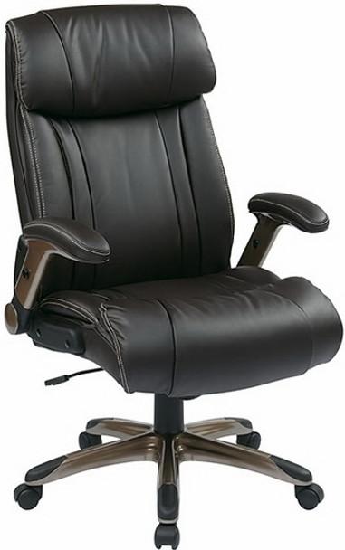 Flip Arm Eco-Leather Executive Chair [ECH38615A] -1