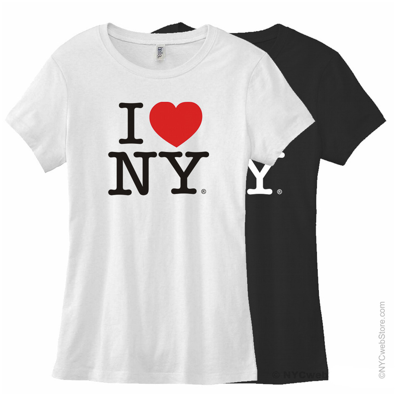 Fitted I Love NY Tees White f8e0319af15