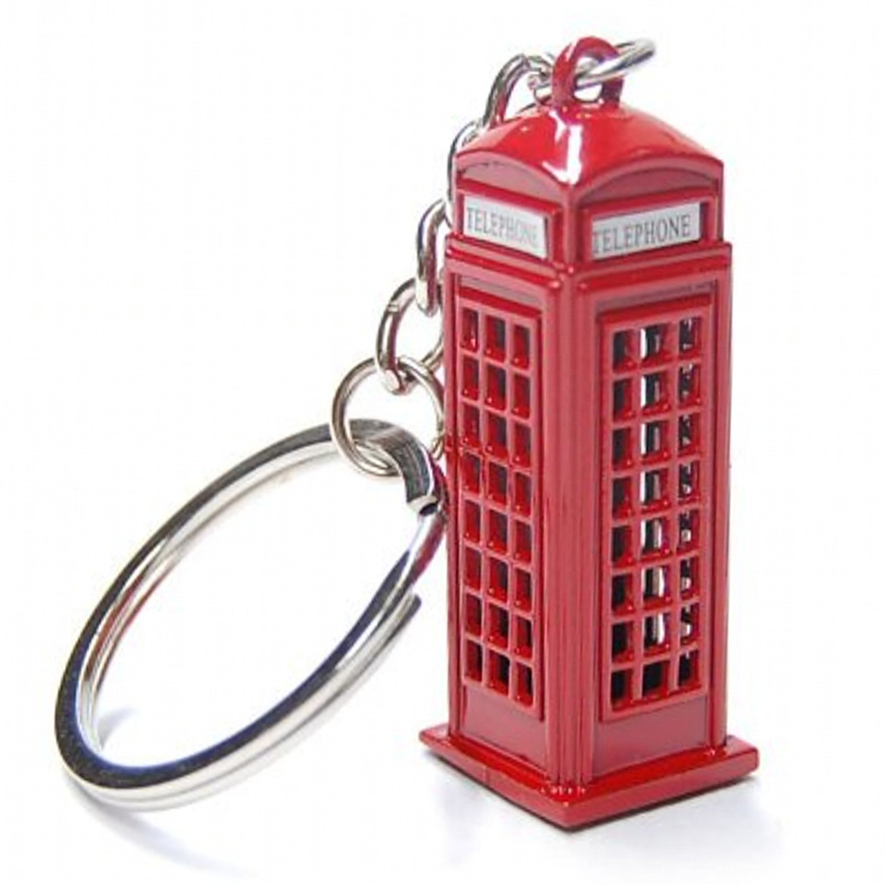 Red London Double Decker Bus Die Cast Metal Key Chain Key Ring or Key Fob Souvenir and Gift