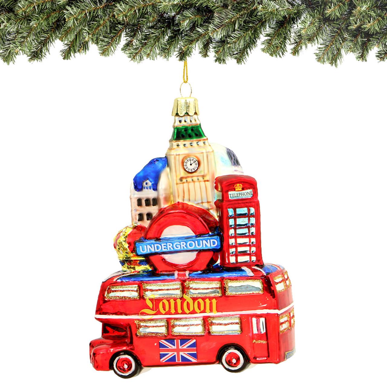 5b436737af0d London Bus and Landmarks Glass Ornament