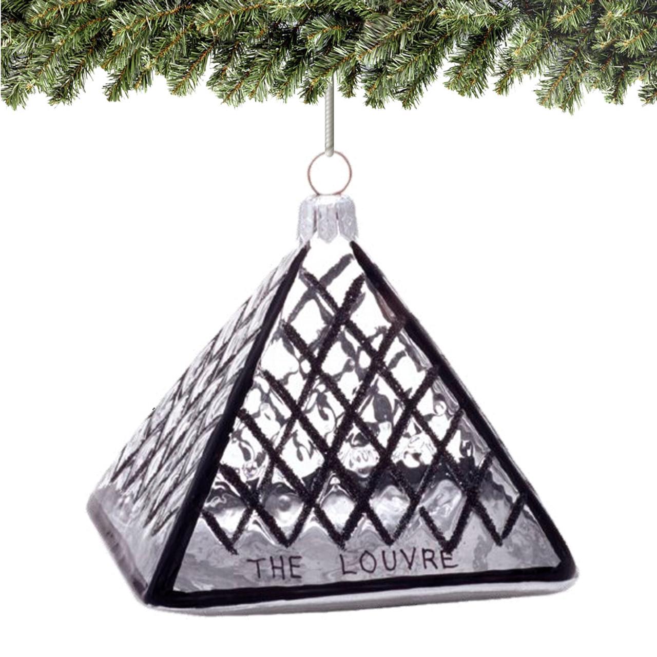 Paris Christmas Ornament.Paris Louvre Ornament Glass