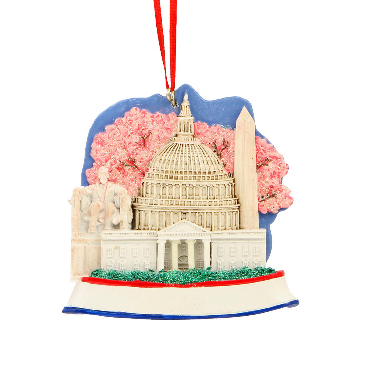 Washington Dc Landmarks Ornament For Personalization