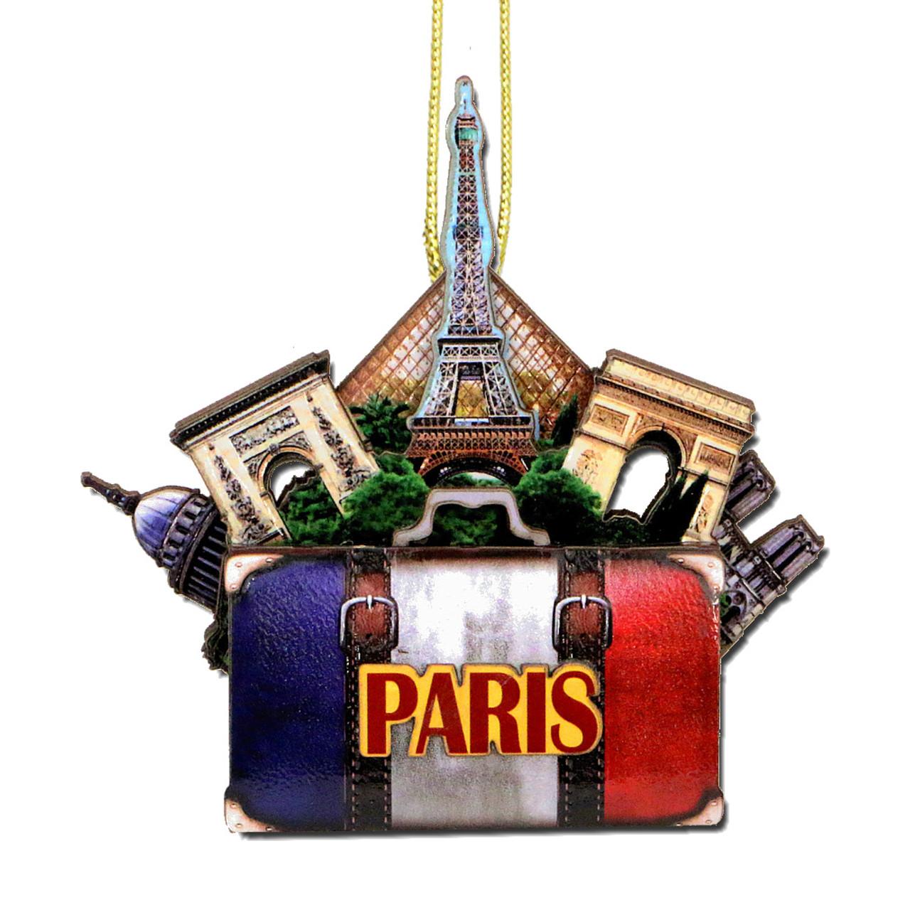 Paris Christmas Ornament.3d Paris Christmas Ornament