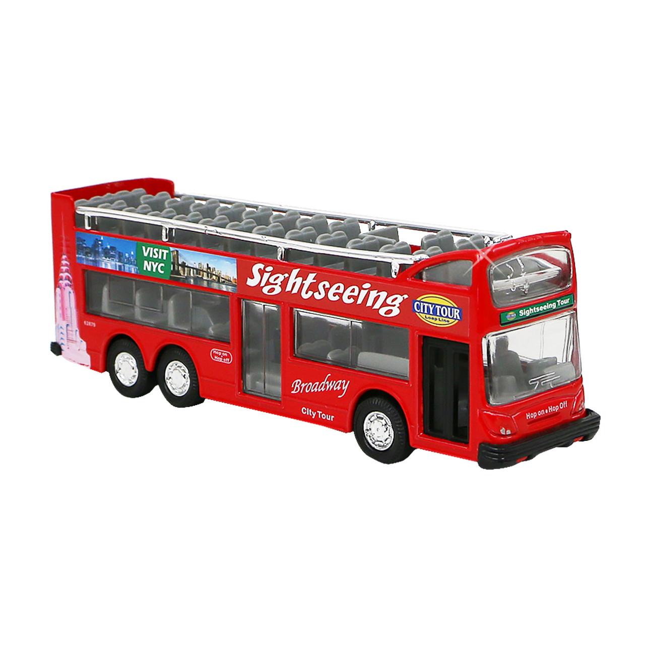 new york city diecast double decker bus toy