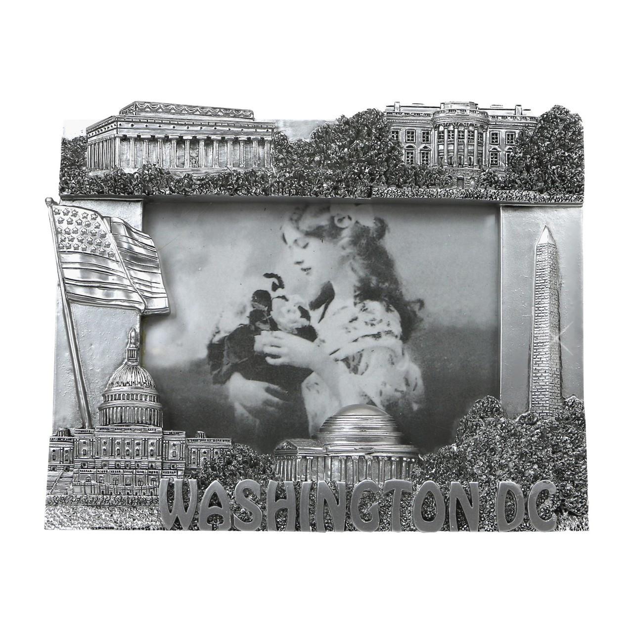 Silver Washington DC Frame for 3x5 Photos