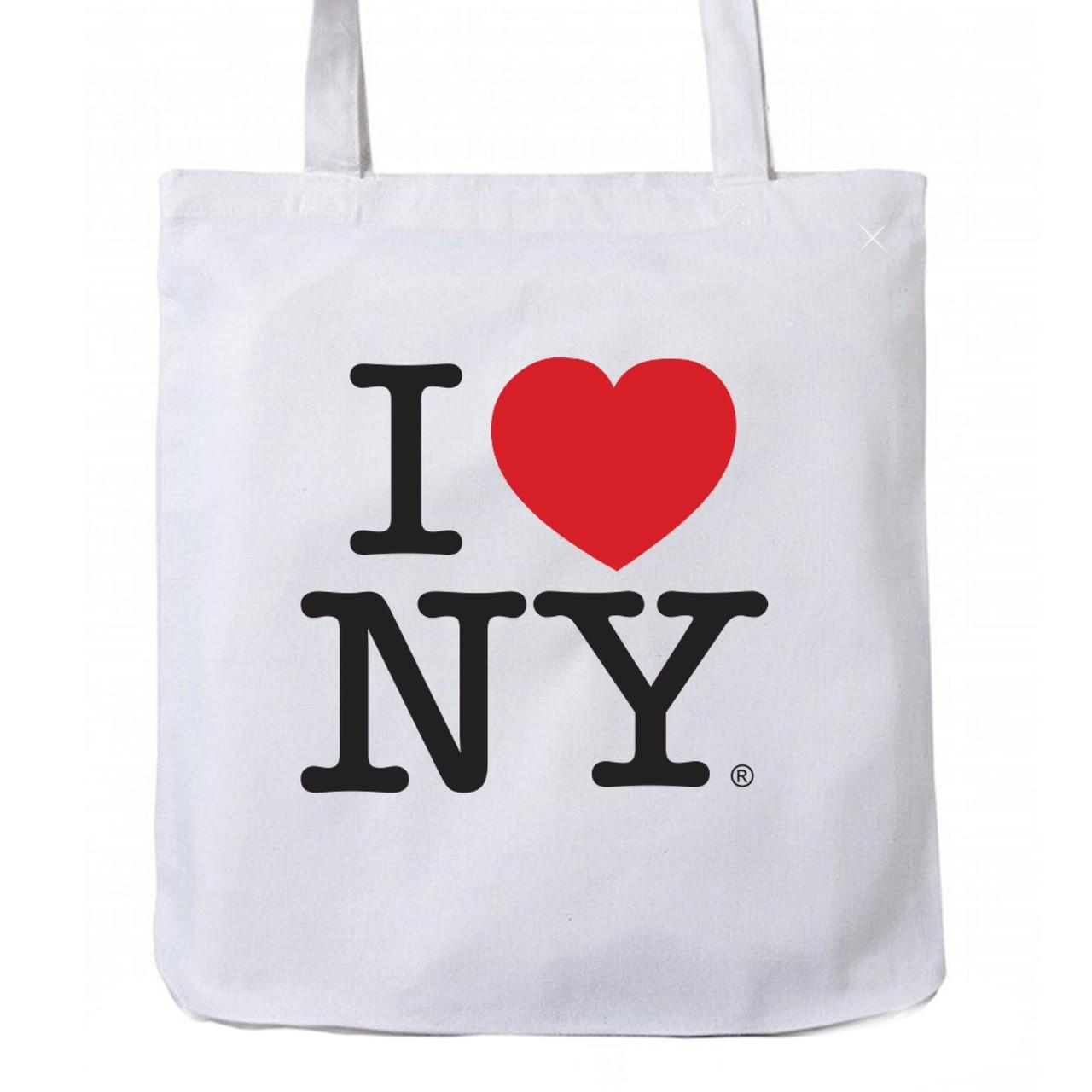 b9c0a3ab2704 I Love NY Tote Bag White
