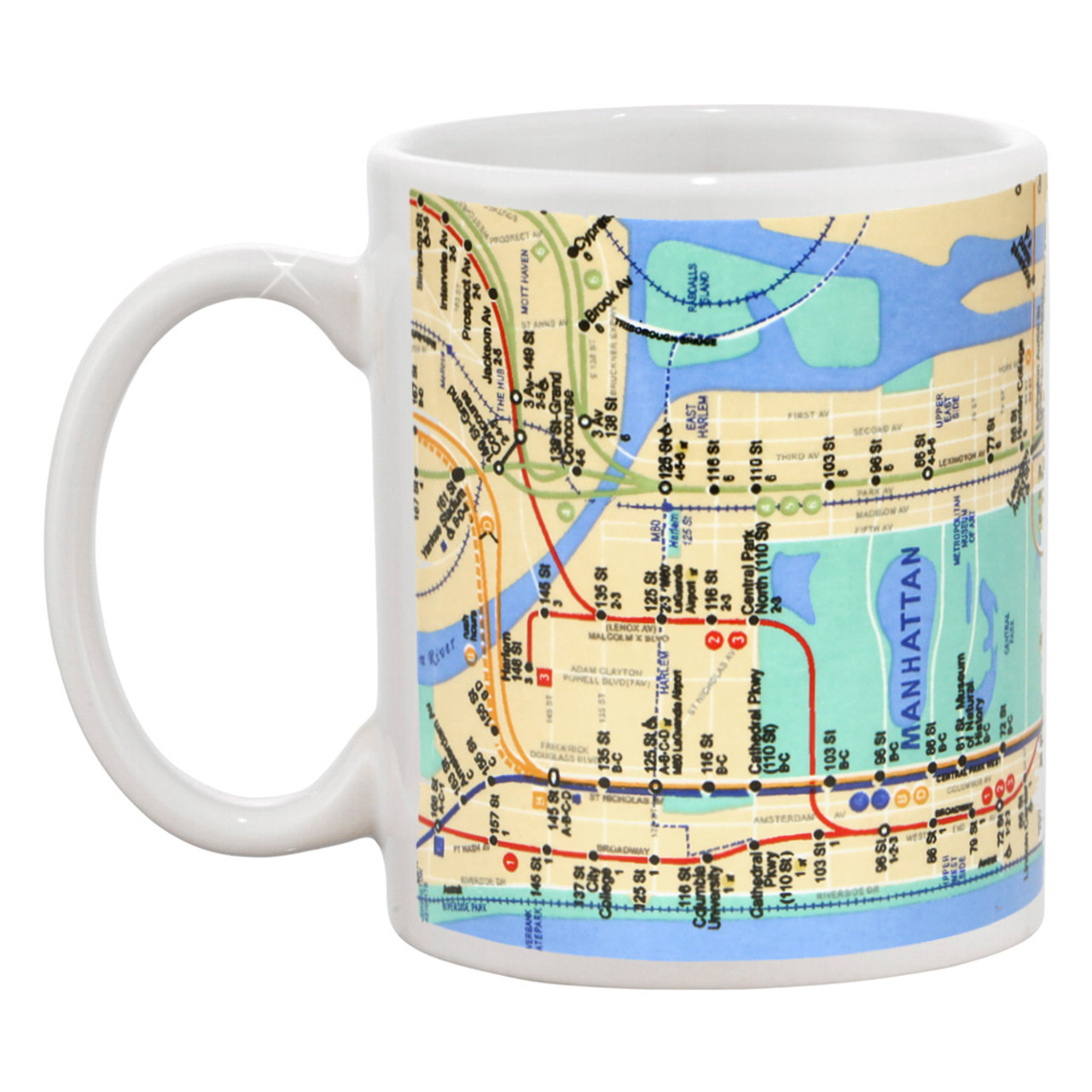 Manhattan Mta Mini Subway Map And Address Finder.New York City Mta Subway Map Mug