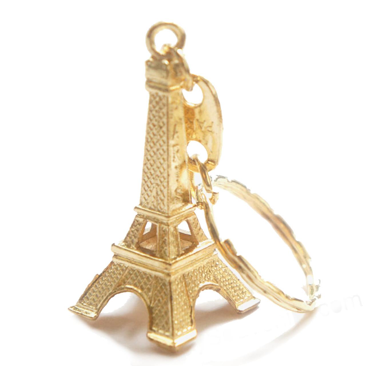 Gold 3D Eiffel Tower Key Chain b20b05b73c5d