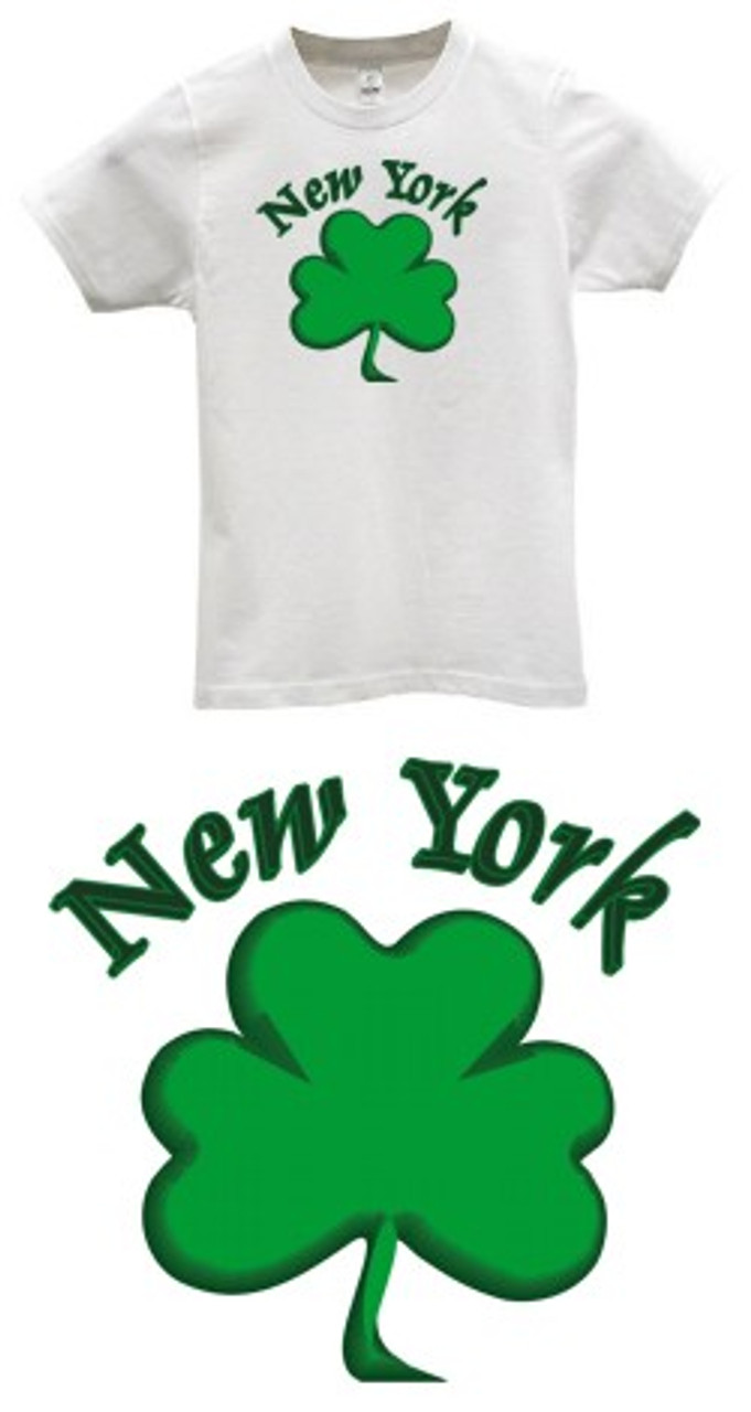 bb9018fe9 New York City Saint Patrick's Day T-Shirt Shamrock