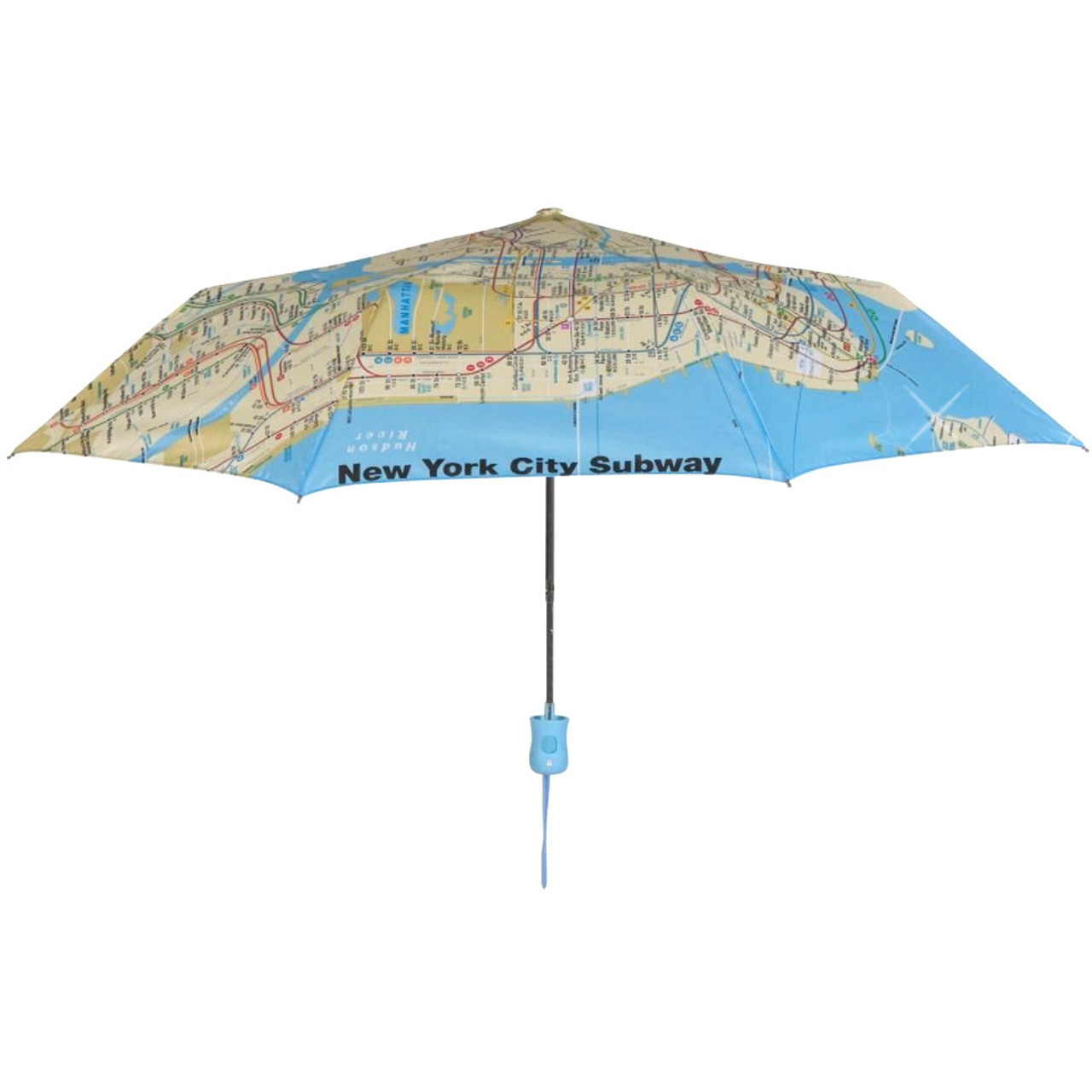 Manhattan Mta Mini Subway Map And Address Finder.New York City Subway Map Umbrella