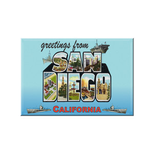 "Greetings From San Diego 2/"" X 3/"" Fridge Magnet California"
