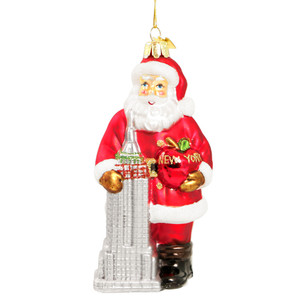 Big Apple New York City Glass Ornament (C4108)