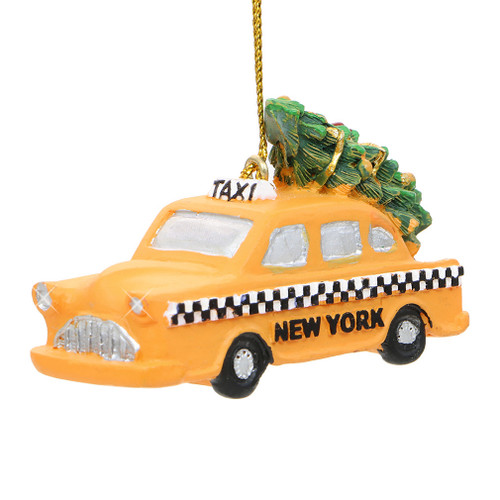 Car Christmas Ornaments.Nyc Taxi And Christmas Tree Ornament
